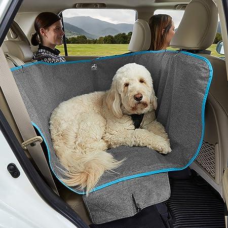 Kurgo Dog Hammock Car Seat Cover for Pets, Pet Seat Cover, Car Hammocks for Dogs, Water-Resistant, for Cars, Trucks, SUVs, Full Seat, Half Seat, Seat and Floor Coverage