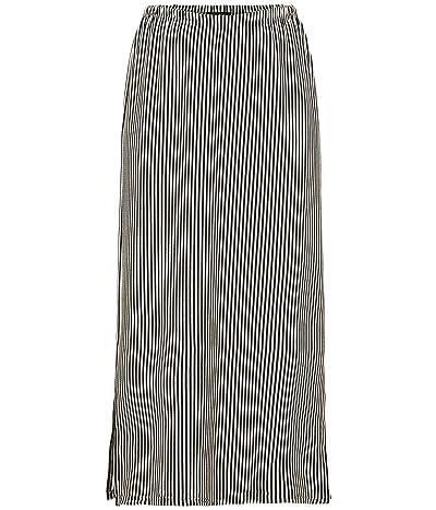 Tribal Pull-On Skirt w/ Side Slits (Black) Women