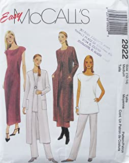 McCall's 2922 Vintage Misses Duster Dress Tunic and Pants SZ 12 14 SEWING PATTERN