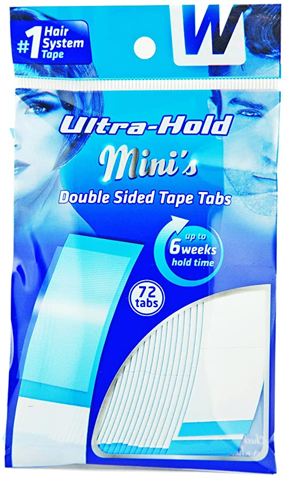 池境界咽頭強力両面テープ:ULTRA HOLD 1袋36枚入り(小分け72枚)テープ形状:アジアカーブ