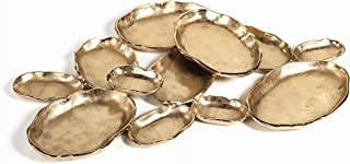 Zodax IN-6296 12-Tier Cluster Oval Serving Bowl, Gold