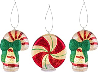 Mr. Christmas 20031 Mini Mercury Glass Figurines, Set of 3 - Candy Collection Holiday Decorations, One Size, Multi