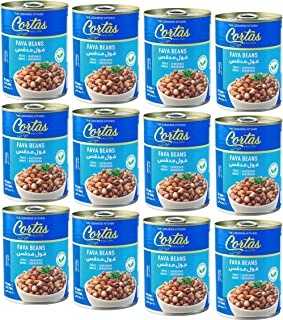 Cortas Fava Beans 14 Oz (12 PACK) - Cooked Foul Medammas | Ready to Eat