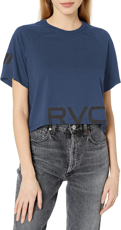 RVCA Womens Va Short Sleeve Crew Neck Shirt