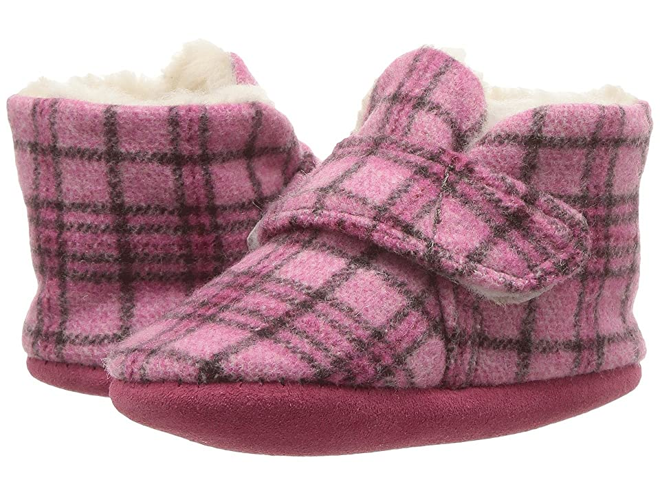 Minnetonka Kids Sawyer Bootie (Infant/Toddler) (Pink Plaid) Girls Shoes