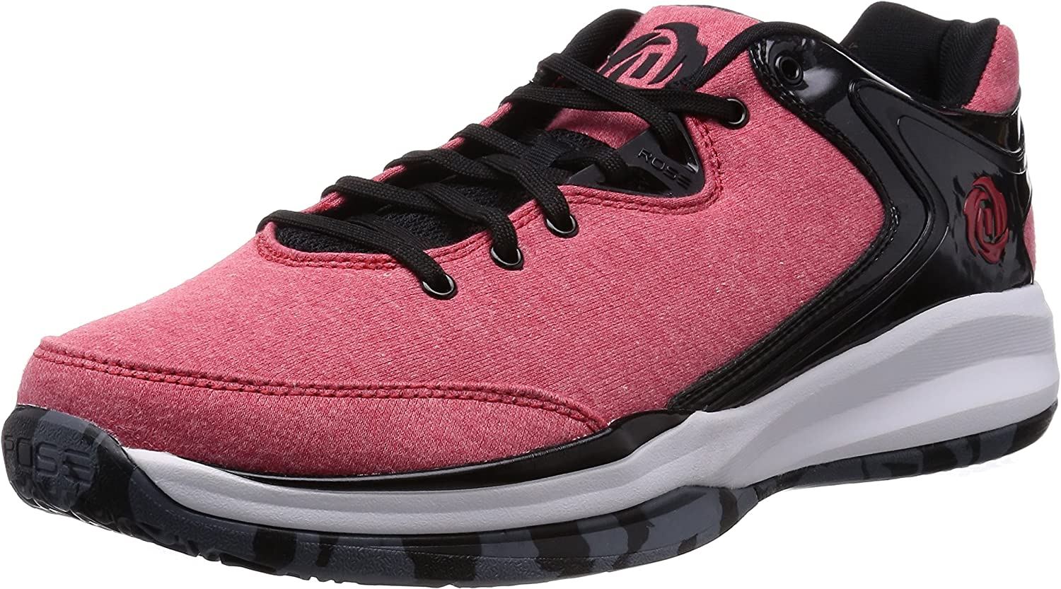 Adidas D pink Englewood Iii, Black red White, 8 M Us