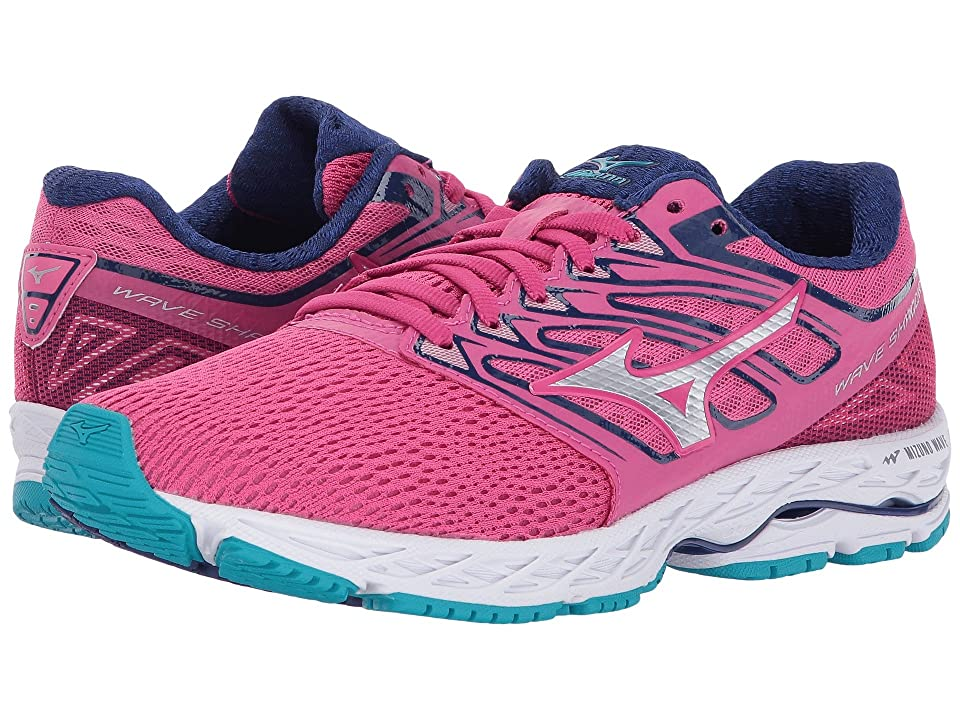 Mizuno Wave Shadow (Fuchsia Purple/Silver/Tile Blue) Girls Shoes