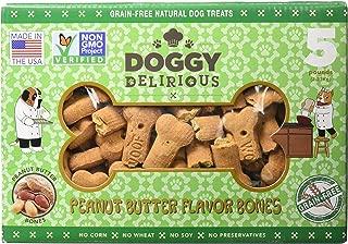 Doggy Delirious Peanut Butter Bones Dog Treats, 5Lbs