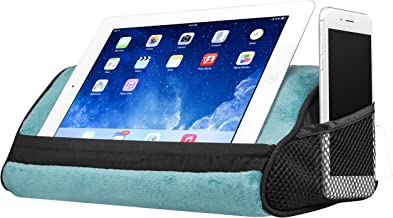 LapGear Travel Tablet Pillow, Tablet Stand - Aqua (Fits up to 10.5
