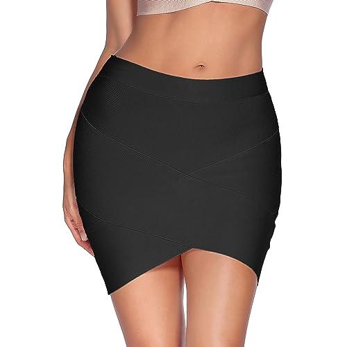 ba06475ca9 Meilun Women's Rayon Bandage Bodycon Mini Skirt