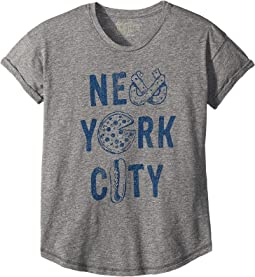 New York City Rolled Short Sleeve Mocktwist Tee (Big Kids)