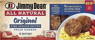 Jimmy Dean All Natural Sausage, Pork Patties, 7.5 Oz (frozen)