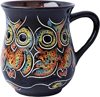 Pottery coffee mug Gift Idea «Owl» 10 oz