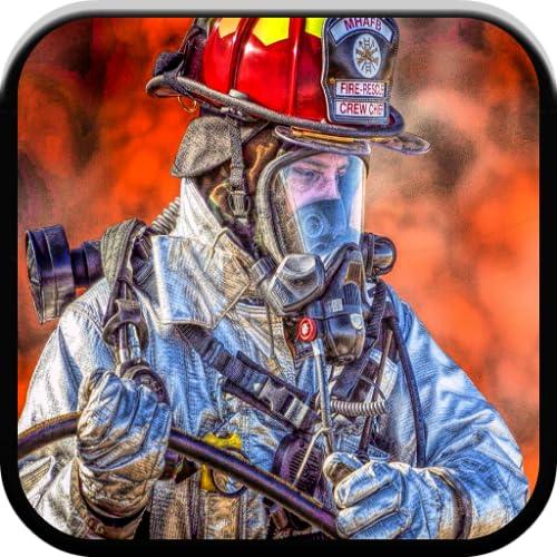 Feuerwehrmann-Spiel und Feuerwehrauto-Spiele für Kinder kostenlos : Feuerwehrauto-Sirenentöne, Puzzlespiele und passende Spiele