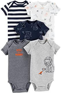 Carter's Baby Boys 5 Pack Bodysuit Set