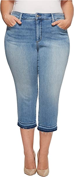 NYDJ Plus Size Plus Size Capris w/ Released Hem in Dreamstate