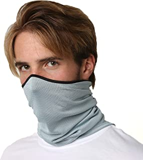 SAAKA Men's Sunguard UPF 50+ Neck Gaiter. Protects from Sun, Wind, Dirt and Bugs. Ultimate Face, Head & Neck Protection