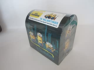 Illumination Entertainment Minions Valentine's Day 16 Cards with 48 Heart-Shape Seals and Mailbox