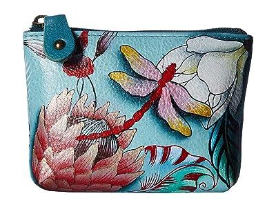 Anuschka Handbags Coin Pouch 1031 (Jardin Bleu) Handbags