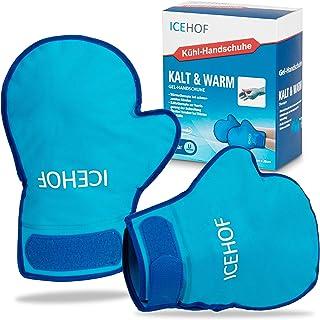 ICEHOF Koelhandschoenen Gel [2x] Zacht materiaal - koude- en warmtetherapie voor handen, vingers voor chemotherapie en reu...