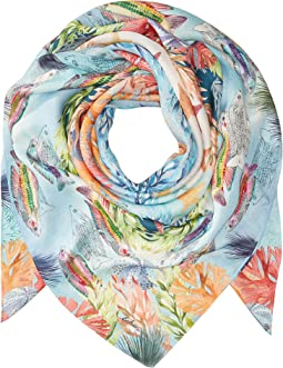 Echo Design - Under The Sea Silk Square Scarf
