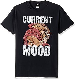 تي شيرت رجالي مطبوع عليه Beauty and The Beast Current Mood من Disney