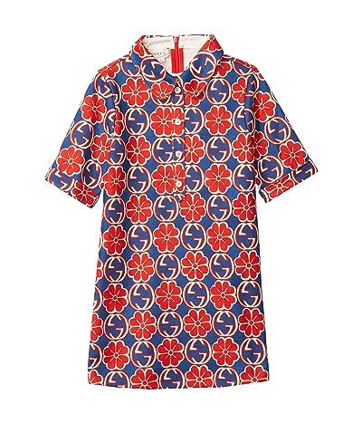 Gucci Kids Quatrefoil on Jacquard Print Dress (Little Kids/Big Kids)