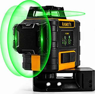 KAIWEETS Rotary Laser 3 X 360 laser lines 4X Brighter, Self-Leveling Construction Laser..