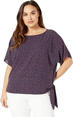 Plus Size Pret Pais Side Tie Top