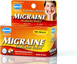 Hyland's Migraine Headache Relief Tablets, White, 60 Count
