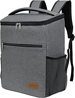 Lifewit Insulated Cooler Bag Backpack, Soft Cooler Soft-Sided Cooling Bag for Beach Picnic Camping BBQ, 24L 30-Can, Grey