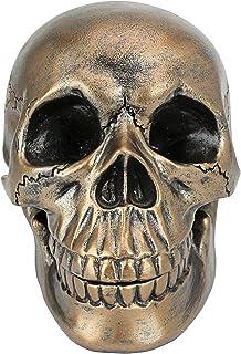 Design Toscano QS3917 Memento Mori Skull Clock,bronze
