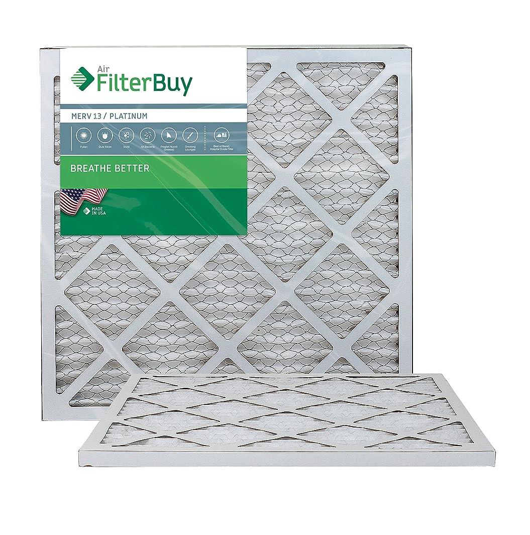 FilterBuy 20x22x1 MERV 13 Pleated AC Furnace Air Filter, (Pack of 2 Filters), 20x22x1 – Platinum