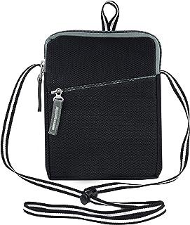 Storite Mini Canvas Neck/Waist Pouch Sling Cross Body Travel Office Messenger one Side Shoulder Bag for Men & Women-(14 cm...