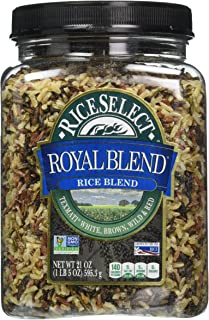 Riceselect Royal Blend Texmati White, Brown, Wild, and Red Rice, 21 Ounce