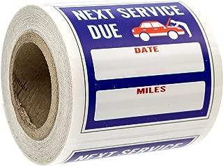 Oil Change/Service Reminder Stickers (100 Stickers)