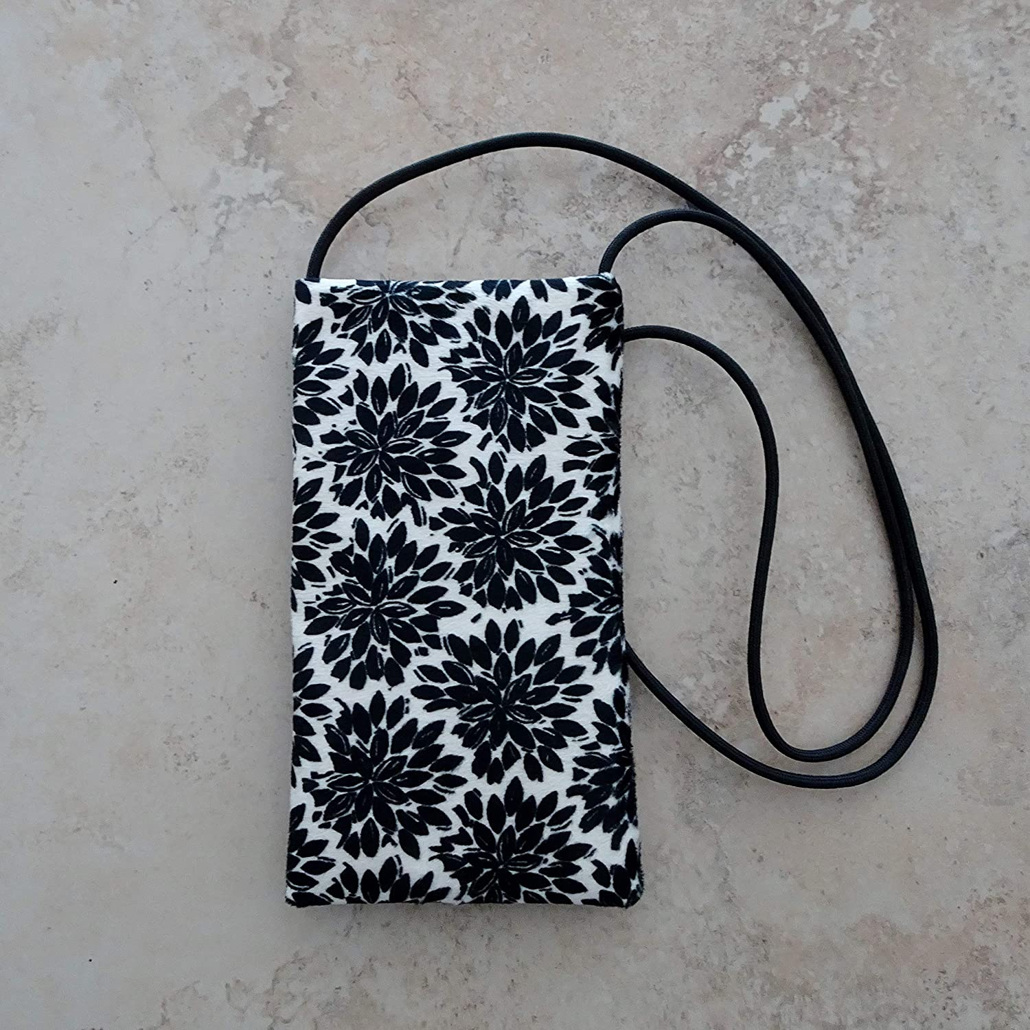 Cell Phone Pouch Black White Strapped Small Cross Manufacturer Austin Mall regenerated product Purse body