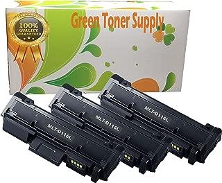 GTS (TM) 3 Pack Samsung MLTD116L Black LaserJet Toner Cartridges for SL-M2825DW, SL-M2875FD/FW, SL-M2835DW, SL-M2885FW