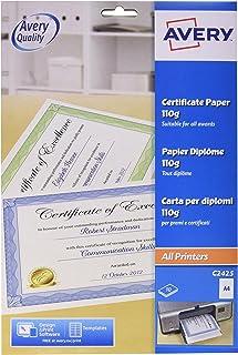 Avery UK c2425Papier certificat A4, 100g