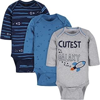 Gerber Baby-Boys 3-Pack Long-Sleeve Onesies Bodysuit Footie