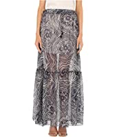 See by Chloe - Floral Waves on Silk Georgette Skirt