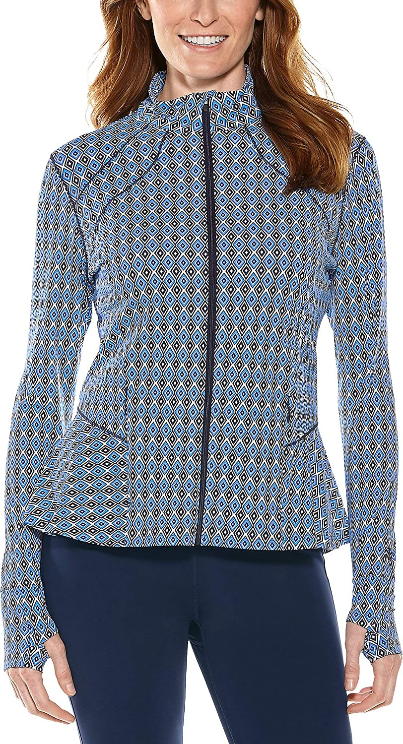 Coolibar UPF 50+ Women's Diamond Cove Swim Jacket  Sun Predective