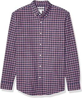 Amazon Essentials Camisa Oxford de manga larga con ajuste regular para hombre