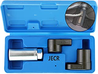 Oxygen Sensor Socket Remover Tool Set - 3 Piece Universal o2 Sockets Wrench Tool Kit - 7/8, 1/2, and 3/8 Inch Drive for 02 Sensors – 1 Vacuum Switch Socket & 2 Puller Sockets Wrench Kit – 7/8""