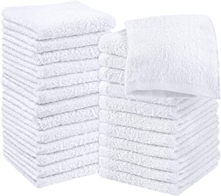 Utopia Towels Cotton White Washcloths Set - Pack of 24 -...