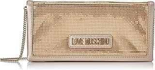 حقيبة يد للنساء من لوف موسكينو، ذهبية (معدن بلاتيني)، مقاس 3x13x27 سم (عرض x ارتفاع x طول) طراز Jc4252pp0a