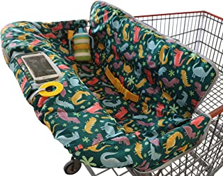 Shopping Trolley Cover for Baby or Toddler - 2-in-1 Highchair Cover - Compact Universal Fit - Modern Unisex Design for Boy...