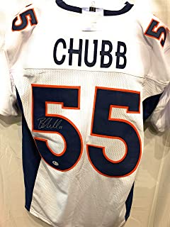 Bradley Chubb Denver Broncos Signed Autograph Custom Jersey White Beckett Witnessed Certified