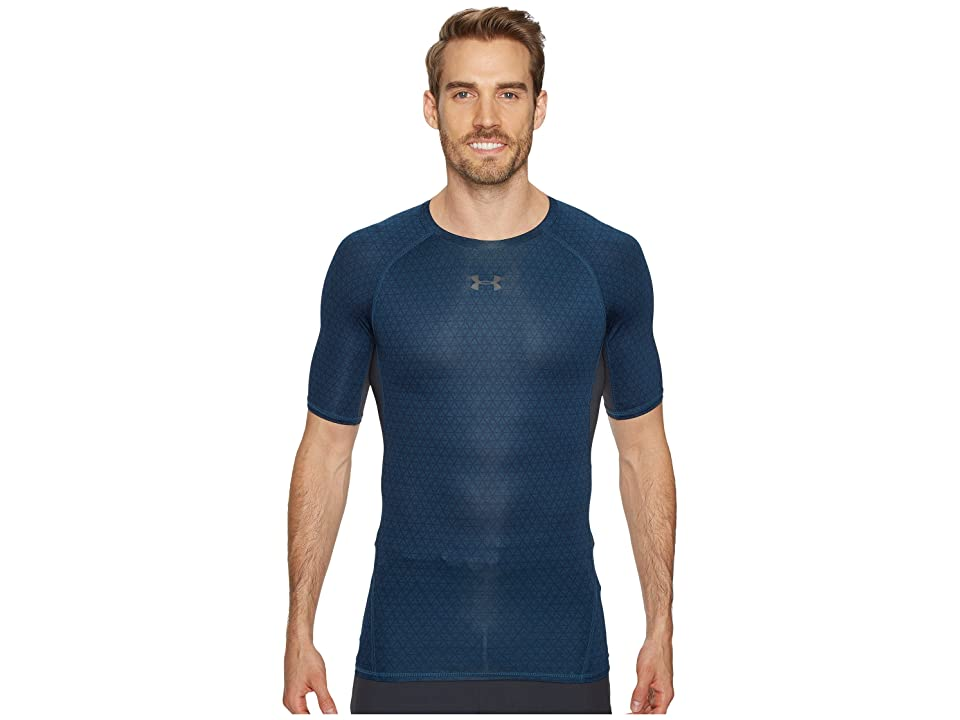 Under Armour Armour(r) Heatgear(r) Printed S/S Tee (True Ink/#/Anthracite) Men