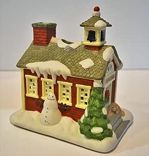 Christmas Village School House Tealight Candle Holder ; Home Decor